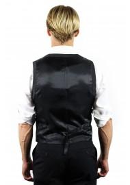 suit vest backside in charcoal
