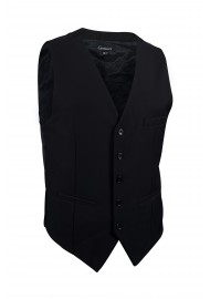 formal black suit vest