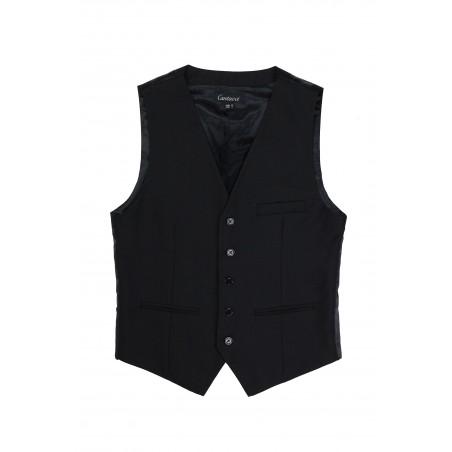 black suit vest for men