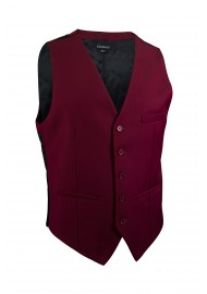 burgundy red suit vest