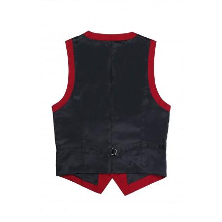 backside dress vest cherry red