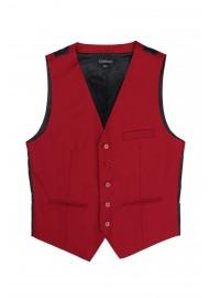 suit vest in cherry