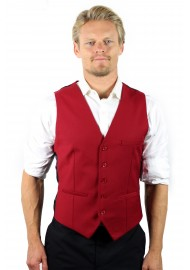 styled suit vest in red