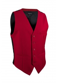 cherry red mens suit vest