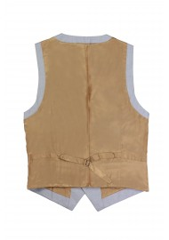 gray vest with gold backside