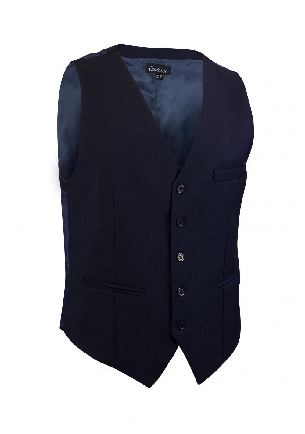 midnight blue dress vest