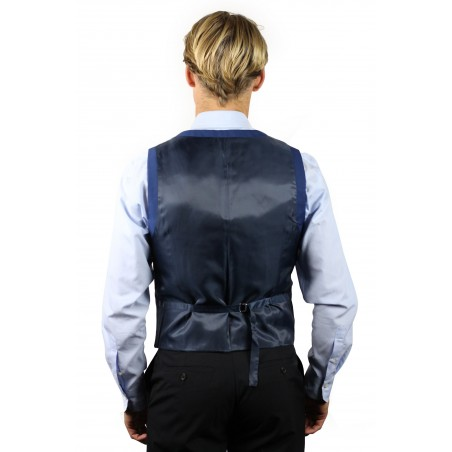 blue dress vest for men