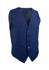 indigo blue suit vest