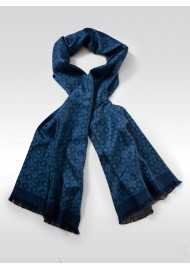Finest Silk Scarf in Indigo Blue
