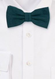 Matte Woven Bow Tie in Forest Green