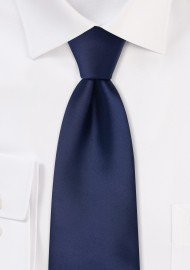 navy blue kids necktie in solid color