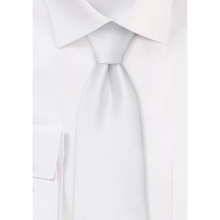 solid bright white necktie