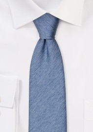 Wool Textured Steel Blue Mens Tie