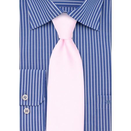 Blush Pink Linen Mens Tie