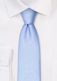Matte Woven Slim Cut Tie in Blue Bird