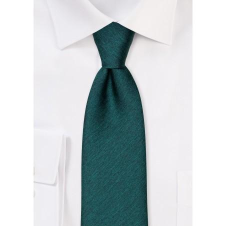 Modern Cut Necktie in Gem Green
