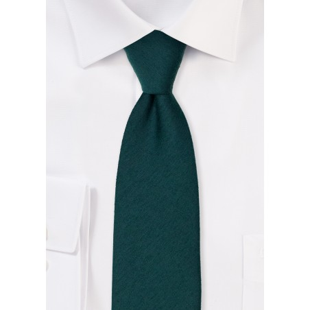 Woolen Tie in Forest Green