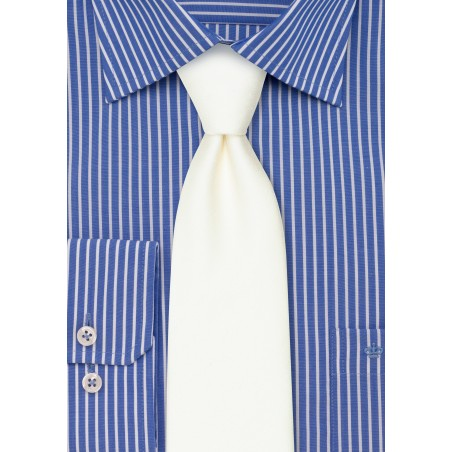 Contemporary Blonde Linen Textured Tie