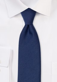 Matte Finish Tie in Navy Blue