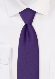 Modern Cut Grape Woolen Necktie