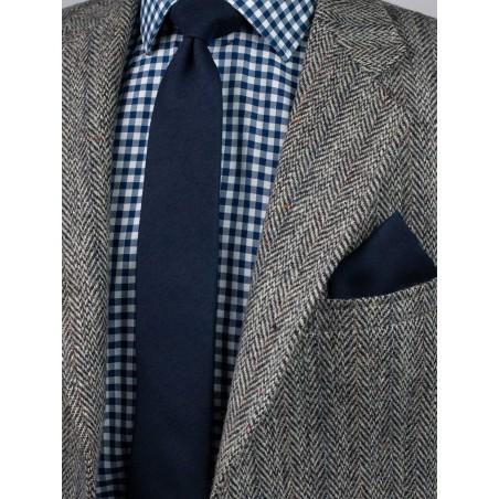 Formal Woolen Midnight Necktie Styled