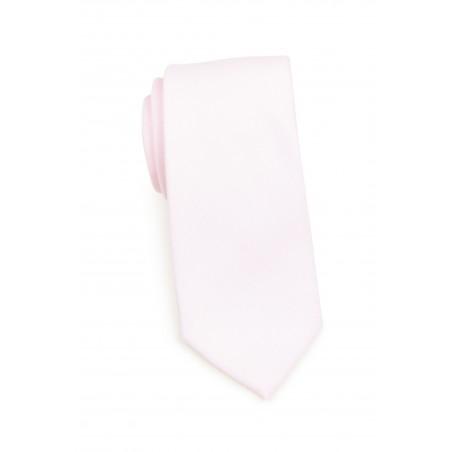Delicate Linen Blush Pink Linen Tie Rolled