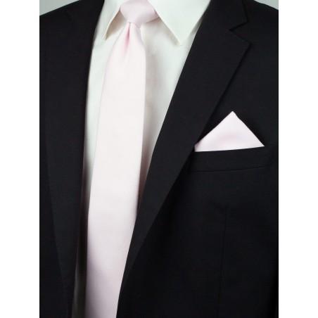 Delicate Linen Blush Pink Linen Tie