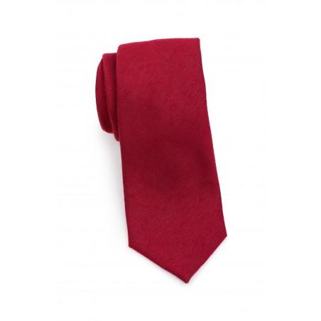 Slim Cut Sedona Red Mens Tie Rolled