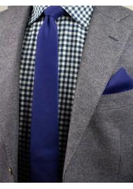 Ultramarine Woolen Tie in Modern Width Styled