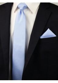 Matte Woven Slim Cut Tie in Blue Bird Styled