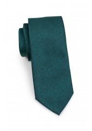 Modern Cut Necktie in Gem Green Rolled