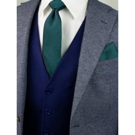 Modern Cut Necktie in Gem Green Styled