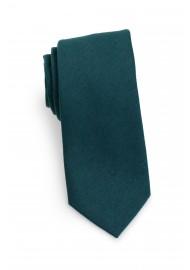 Woolen Tie in Forest Green Rolled