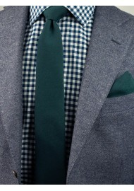 Woolen Tie in Forest Green Styled