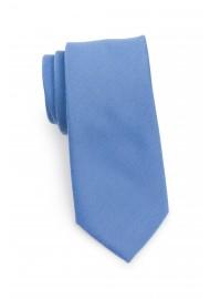 Ash Blue Linen Textured Necktie With Modern Cut Rolled