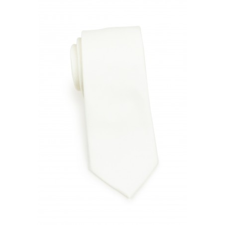 Contemporary Blonde Linen Textured Tie Rolled