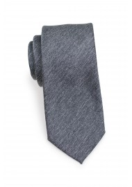 Charcoal Gray Heather Slim Tie Rolled