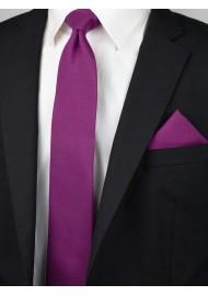 Woolen Matte Woven Tie in Sangria Styled