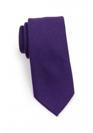 Modern Cut Grape Woolen Necktie Rolled