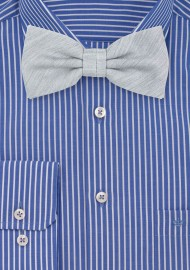 Mens Bow Tie in Mystic Gray