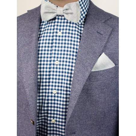 Mens Bow Tie in Mystic Gray Styled
