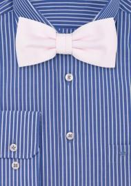 Linen Textured Bow Tie in Blush
