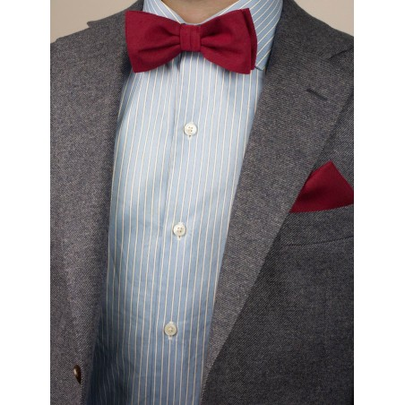 Brilliant Sedona Red Bow Tie Styled