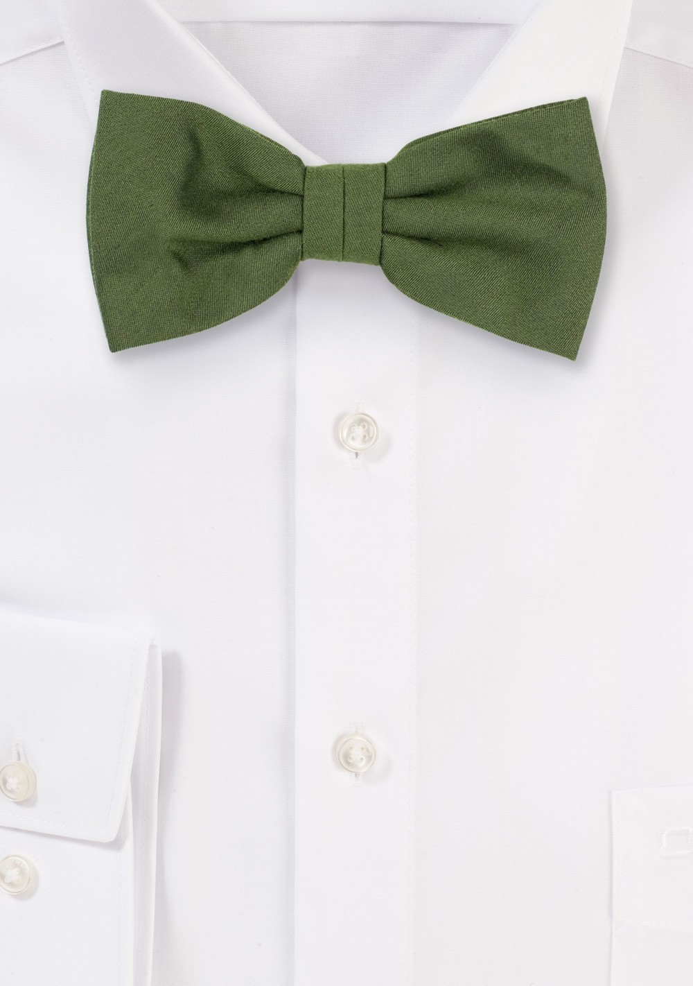 Woolen Bow Tie in Olive Green