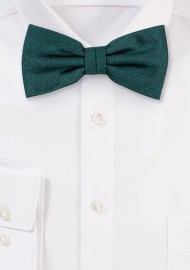 Woolen Bow Tie in Gem Green