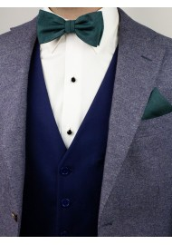 Woolen Bow Tie in Gem Green Styled