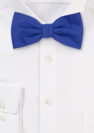 Woolen Bow Tie in Marine Blue