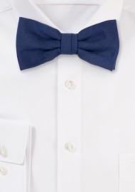 Elegant Matte Navy Bow Tie