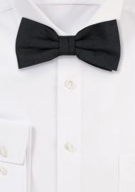 Woolen Black Bow Tie