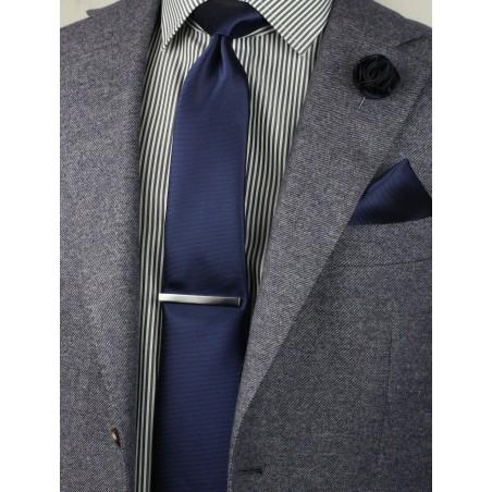 elegant menswear accessory set in navy blue